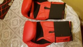 Boxing gloves with straps like new