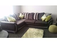 Corner L shaped sofa with spinnig chair