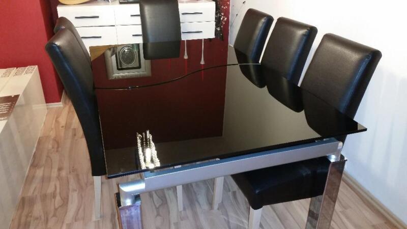 esszimmertisch glastisch ausziehtisch hxbxl 75x100x160 200 in nordrhein westfalen kamen. Black Bedroom Furniture Sets. Home Design Ideas