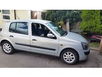 Renault clio 1.2, 12 months mot with no advisories, 92k, Drives without fault,