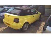 VW GOLF CABRIOLET 2.0 PETROL 'AWG' 2002 - *BREAKING*