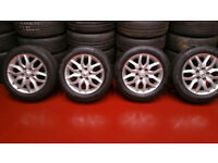 Toyota Genuine 16 alloy wheels + 4 x tyres 205 55 16 Continental