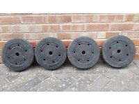 4 x 7.5KG WEIGHT PLATES
