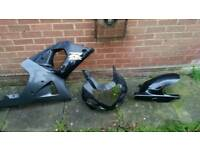 Suzuki fairings and pyramid rear wheel hugger