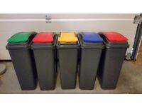 Set of 5 recycling bins