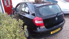 Black BMW Series 1