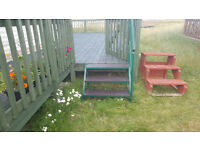 Used metal caravan steps