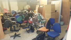 Variety of Office Furniture for Sale including chairs and cabinets - Clearing Out Sale