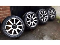 "18"" alloys 5x112 5x100 vw caddy golf V VI T4 passat touran jetta audi a3 a4 a6 skoda octavia superb"