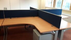 Executive managers beech office desks ideal for new office fit out
