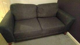 FREE Harveys fabric charcoal sofa and chair set
