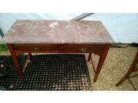 Marble top desk