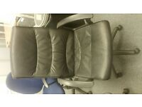 13 BLACK LEATHER OFFICE CHAIRS AVAILABLE