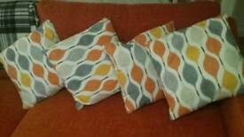 4 x cushions never used