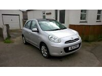 2011 Nissan Micra Tekna Dig S Pure Drive. All extras, glass roof, zero road tax, low mileage