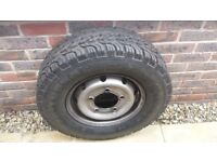 Vauxhall Movano Wheel with brand new Tyre. INSA-TURBO 225/70 R15