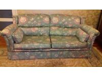 A quality made 3 piece suite which needs a new home. Consists of large sofa and a his and hers chair