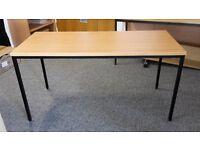 Office table, beech finish