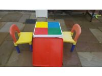 Lego table & chairs