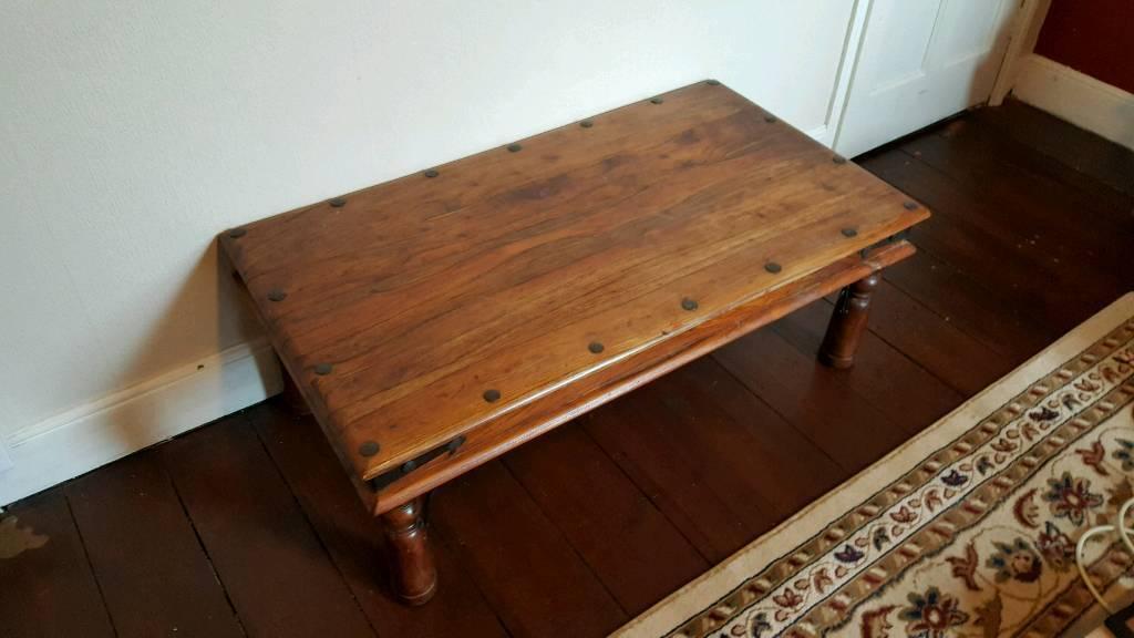 Dark Sheesham Hardwood Side Table Wooden Thakat