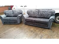 LEXUS BUY 3 SEATER £399 GET 2 SEATER FREE !!! HIGH QUALITY HAND MADE FABRIC SOFA BRAND NEW