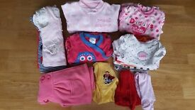 Baby girl clothes bundle - first size/newborn - 27 items
