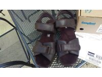MENS 'COSYFEET' EXTRA ROOMY 'BRADFORD' STYLE SANDALS UK SIZE 9