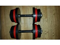 32kg pair of 16kg metal dumbbells