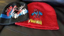 2 spiderman hats 2-4 years