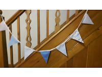 Blue themed bunting