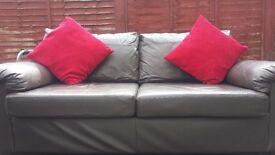 Sofa 3 & 2 Chocolate brown