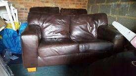 John Lewis leather sofas small