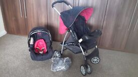 Graco Mirage pushchair & baby seat *good condition, all accessories included*