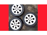 Alloy Wheels Tyres will Fit Vauxhall Zafira Astra Vectra -- 185 55 R 15 -- Alloy Wheel Alloy + tyres