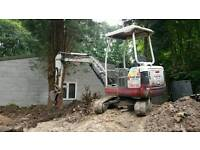 Mini digger hire and self drive hire
