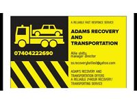 ADAMS RECOVERY AND TRANSPORTATION