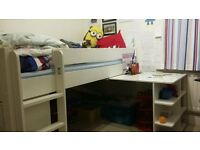 Selling an almost Brand New, white coloured Stompa sleeper Bunk bed