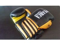 Boxing set: Foldable punchbag stand + punchbag + gloves + weight plates