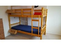 Children's bunk bed including mattress. In great condition. 6 months old.