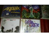Rock metal cds and dvd