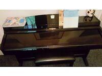 yamaha clavinova clp230 polished black 88 weighted keys
