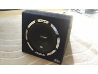 """1200W VIBE Slick SLR 12"""" Subwoofer with built in Amplifier (Sub and Amp combo)"""