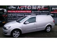 NO VAT 2010 VAUXHALL ASTRA SPORTIVE VAN 1.9 CDTI SILVER NEW MOT AND SERVICE ONLY 92K 2 KEYS CD E/W +