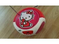 Hello kitty cd & radio