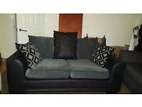 Black and grey 2 seater sofa, 178cm wide, great condition, £120 ono