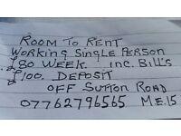A beautiful 1 bedroom to rent in Maidstone. £80 inc. Bills. £100 deposit.