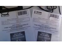 2x chessington tickets 20th july only