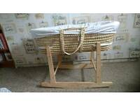 MOSES BASKET rocking stand and two mattresses