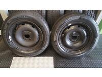 175 65 14 Citroen Berlingo Peugeot Partner steel wheels & tyres Michelin Energy Saver