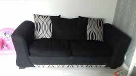 have 2 black sofas a 3 seater corner and large 3 seater